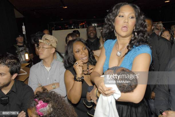 Kenzo Lee Hounsou and Kimora Lee Simmons attend BABY PHAT by Kimora Lee Simmons Spring 2010 Collection at Roseland Ballroom on September 15 2009 in...
