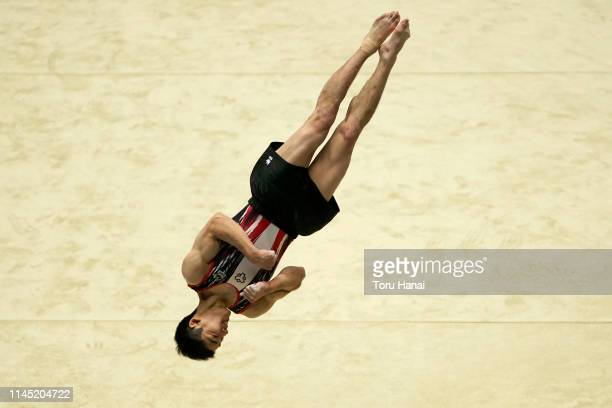 Kenzo Shirai of Japan competes on the floor during day one of the 73rd All Japan Artistic Gymnastics Individual AllAround Championships at Takasaki...