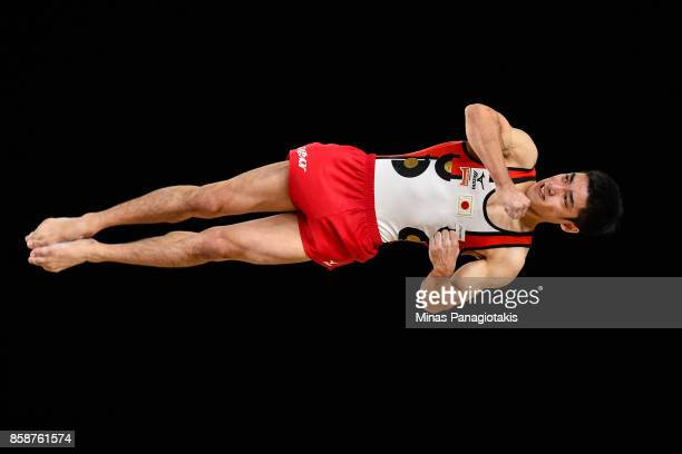 Kenzo Shirai of Japan competes on the floor exercise during the individual apparatus finals of the Artistic Gymnastics World Championships on October...