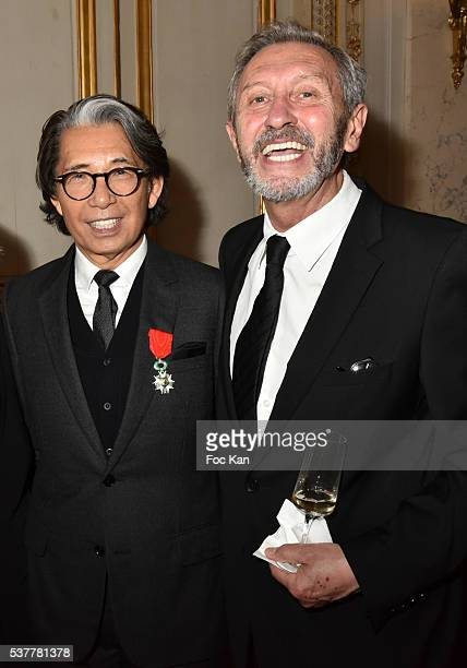 Kenzo Takada and Angelo Tarlazzi attend attend as Kenzo Takada receives the Medal of Chevalier de La Legion d'Honneur at Conseil Constitutionnel on...