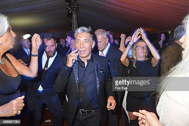 Kenzo Takada and guests attend the Kenzo Takada Celebrates 50 Years of Life in Paris at Le Pre Catalan on September 16 2015 in Boulogne Billancourt...
