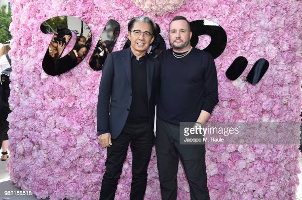 Kenzo Takada and Kim Jones attend the Dior Homme Menswear Spring/Summer 2019 show as part of Paris Fashion Week on June 23 2018 in Paris France
