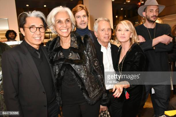 Kenzo Takada architect Linda Pinto Jean Christophe Laizeau from LVMH architect Ed Tuttle PR Ruth Obadia and Guillaume Salmon from Colette attend...