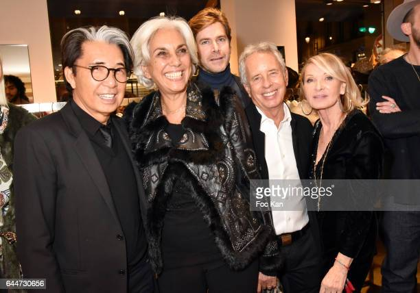 Kenzo Takada architect Linda Pinto Jean Christophe Laizeau from LVMH architect Ed Tuttle and Ruth Obadia attend 'Facade16' Magazine Issue Launch at...
