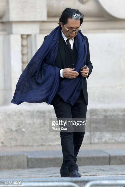 Kenzo Takada attends the Karl Lagerfeld Homage at Grand Palais on June 20, 2019 in Paris, France.
