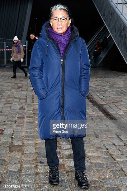 Kenzo Takada attends the Kenzo Menswear Fall/Winter 20152016 Show as part of Paris Fashion Week on January 24 2015 in Paris France