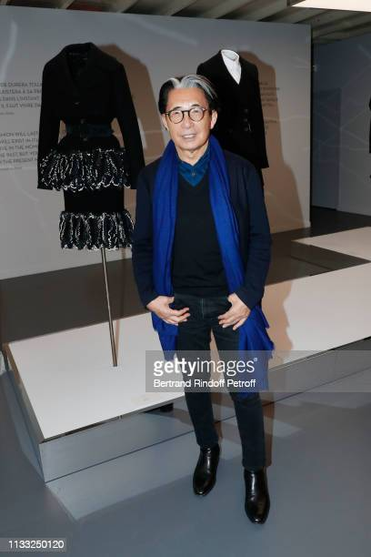 Kenzo Takada attends the Kenzo Takada Book Signing during 'Azzedine Alaia Collectioneur Adrian et Alaia L'art du tailleur' Exhibition at Gallerie...