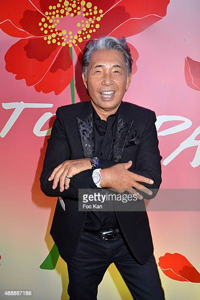 Kenzo Takada attends the Kenzo Takada Celebrates 50 Years of Life in Paris at Le Pre Catalan on September 16 2015 in Boulogne Billancourt France