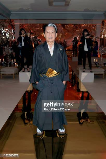 Kenzo Takada celebrates his 80th Birthday at Pavillon Ledoyen on February 28 2019 in Paris France