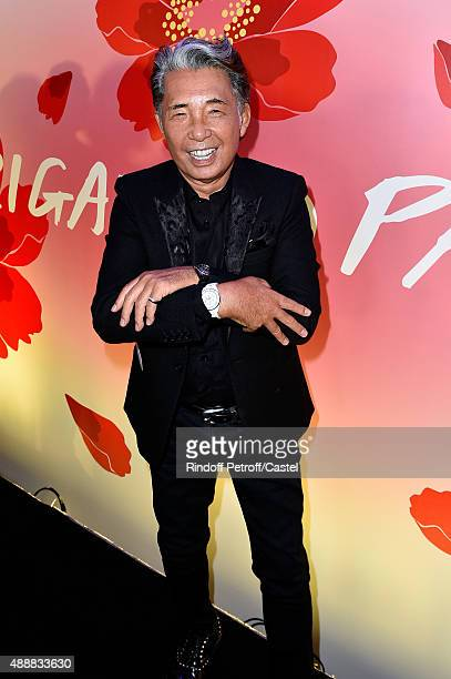 Kenzo Takada dancing with his two 'Chanel Watches' during the Kenzo Takada's 50 Years Of Life in Paris Celebration at Restaurant Le Pre Catelan on...
