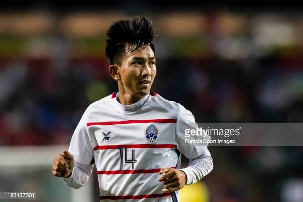 Keo Sokpheng of Cambodia in action during the FIFA World Cup Asian Qualifier second round match between Hong Kong and Cambodia on November 19 2019 in...