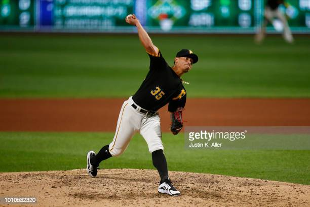 Keone Kela of the Pittsburgh Pirates pitches against the St Louis Cardinals at PNC Park on August 3 2018 in Pittsburgh Pennsylvania