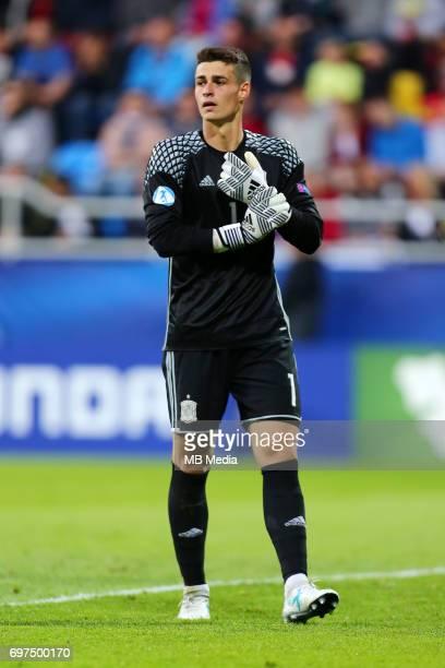 Kepa Arrizabalaga during the UEFA European Under21 match between Spain and FYR Macedonia on June 17 2017 in Gdynia Poland