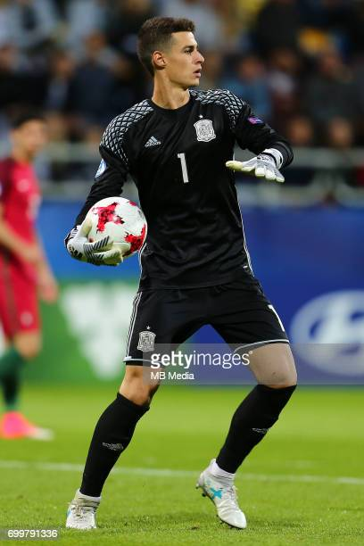 Kepa Arrizabalaga during the UEFA European Under21 match between Portugal and Spain on June 20 2017 in Gdynia Poland