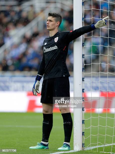 Kepa Arrizabalaga of Athletic Bilbao during the La Liga Santander match between Real Sociedad v Athletic de Bilbao at the Estadio Anoeta on April 28...