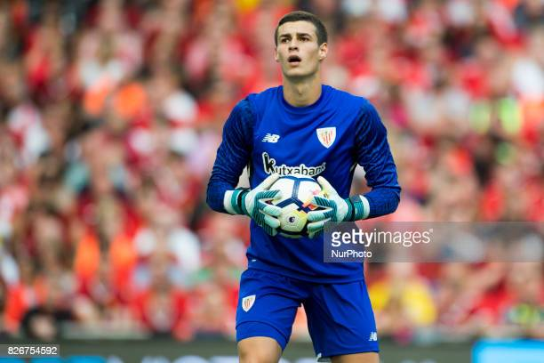 Kepa Arrizabalaga of Athletic pictured during the PreSeason Friendly match between Liverpool FC and Athletic Club Bilbao at Aviva Stadium in Dublin...