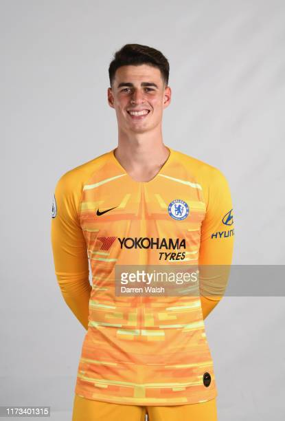 Kepa Arrizabalaga of Chelsea during the media open day at Chelsea Training Ground on July 29 2019 in Cobham England