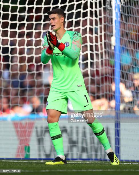 Kepa Arrizabalaga of Chelsea during the Premier League match between Chelsea FC and AFC Bournemouth at Stamford Bridge on September 1 2018 in London...