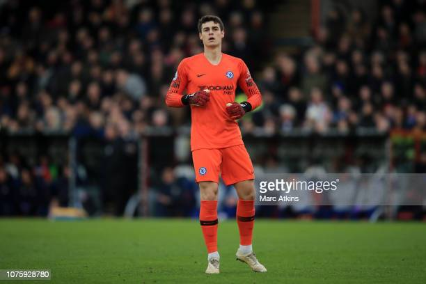 Kepa Arrizabalaga of Chelsea during the Premier League match between Crystal Palace and Chelsea FC at Selhurst Park on December 30 2018 in London...