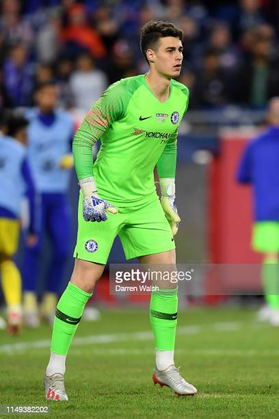 Kepa Arrizabalaga of Chelsea looks on during the Friendly Match match between New England Revolution and Chelsea at Gillette Stadium on May 15 2019...