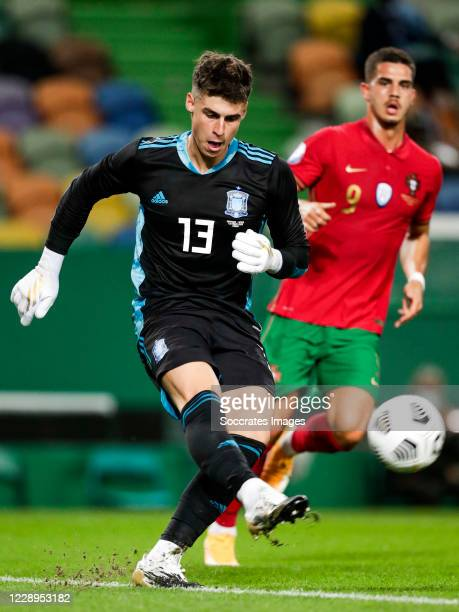 Kepa Arrizabalaga of Spain during the International Friendly match between Portugal v Spain at the Jose Alvalade stadium on October 7 2020 in Lisbon...