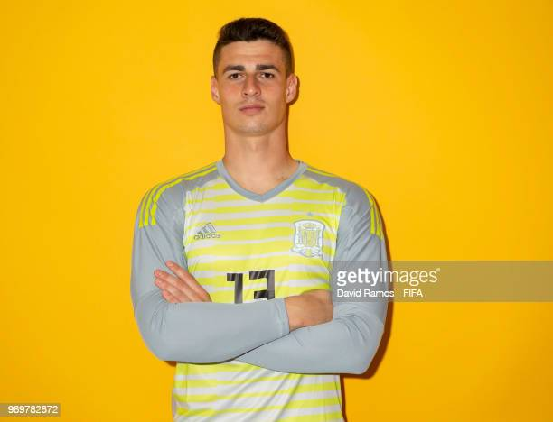 Kepa Arrizabalaga of Spain poses for a portrait during the official FIFA World Cup 2018 portrait session at FC Krasnodar Academy on June 8 2018 in...