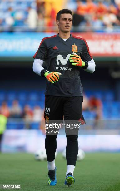 Kepa Arrizabalaga of Spain prior the International friendly football match between Spain and Suisse at La Ceramica Stadium Vilareal on June 3 2018