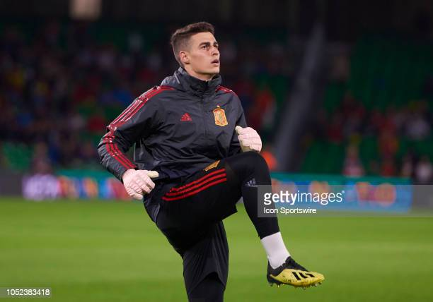 Kepa goalkeeper of Spain looks before the UEFA Nations League A Group match between Spain and England on October 15 at Benito Villamarin Stadium in...