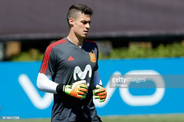 Kepa goalkeeper of Spain looks on during a training session on June 11 2018 in Krasnodar Russia