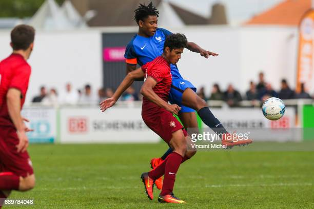 Kephren ThuramUlien of France during the U16 Mondial football Final match between France U16 and Portugal U16 on April 17 2017 in Montaigu France