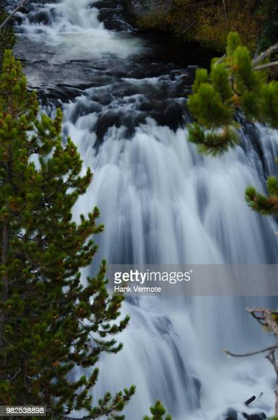 kepler cascades yellowstone - hank vermote stock pictures, royalty-free photos & images