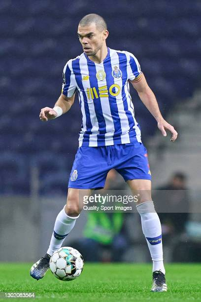 Kepler Lima 'Pepe' of FC Porto in action during the Liga NOS match between FC Porto and Boavista FC at Estadio do Dragao on February 13, 2021 in...