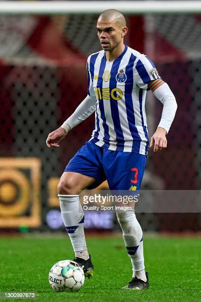 Kepler Lima 'Pepe' of FC Porto in action during the Liga NOS match between SC Braga and FC Porto at Estadio Municipal de Braga on February 07, 2021...