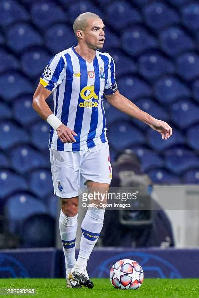 Kepler Lima 'Pepe' of FC Porto in action during the UEFA Champions League Group C stage match between FC Porto and Olympiacos FC at Estadio do Dragao...