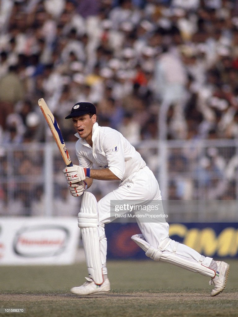 Kepler Wessels batting for South Africa during the 2nd One Day International match between India and South Africa at the Captain Roop Singh Stadium in Gwalior, India, 12th November 1991. India won by 38 runs.