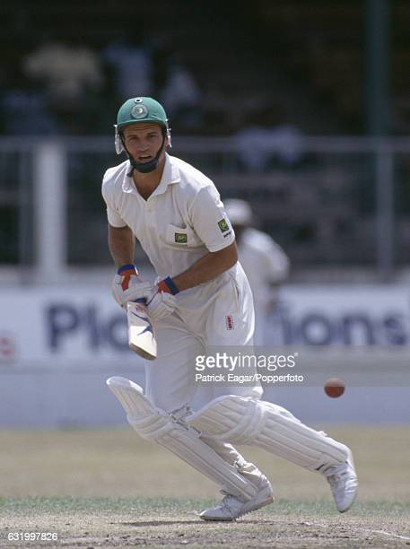 Kepler Wessels batting for South Africa during the only Test match between West Indies and South Africa at the Kensington Oval Bridgetown Barbados...
