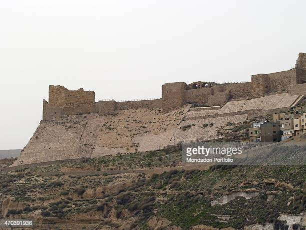 'Kerak Castle 12th Century AD fortified stone building Jordan Kerak Whole artwork view View of the Castle it rises on a high place more than 900 mt...