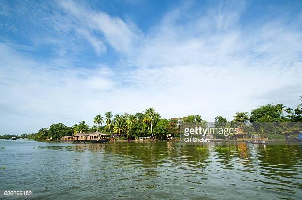 Kerala backwater major tourist attraction, Alleppey, Kerala, India.