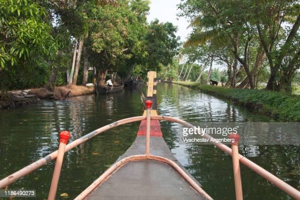 kerala backwaters, cruising the canals and rivers, india - argenberg fotografías e imágenes de stock