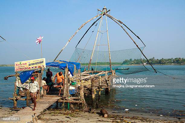 CONTENT] Kerala chinese fishing nets in Fort kochi is part of an ancient method of fishing practiced in KeralaThese are sometimes attached with small...