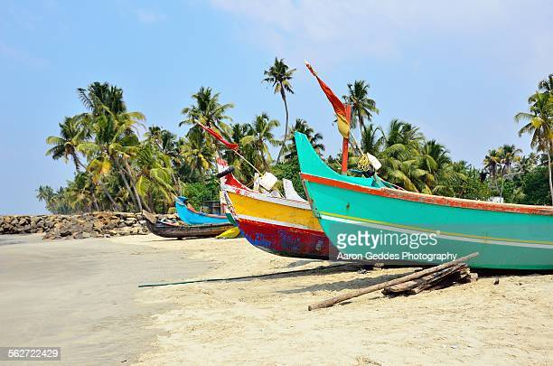 kerala fishing boats - kochi india stock pictures, royalty-free photos & images