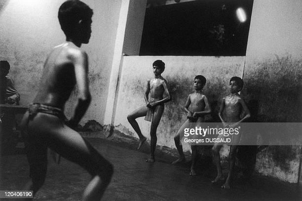 Kerala India in August 1999 Kthakali school of kalamandalam