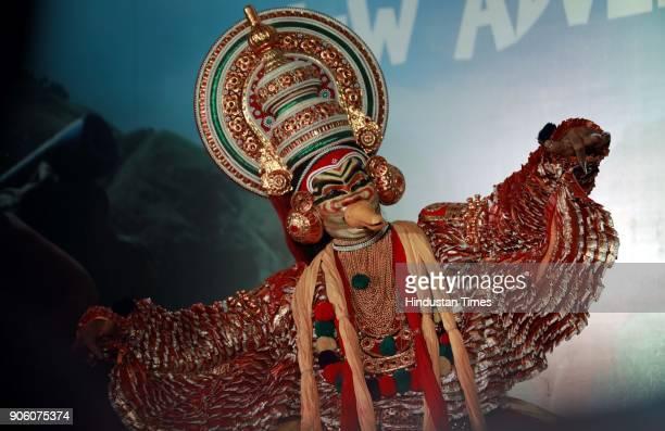 Kerala traditional cultural performance during Kerala Tourism Partnership Meet at Hotel Grand Sheraton on January 16 2018 in Pune India