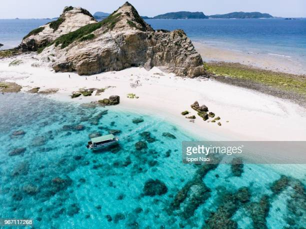 Kerama Islands National Park from above, Okinawa, Japan