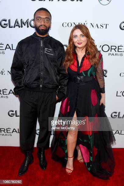 Kerby JeanRaymond and Glamour EditorinChief Samantha Barry attend the 2018 Glamour Women Of The Year Awards Women Rise on November 12 2018 in New...
