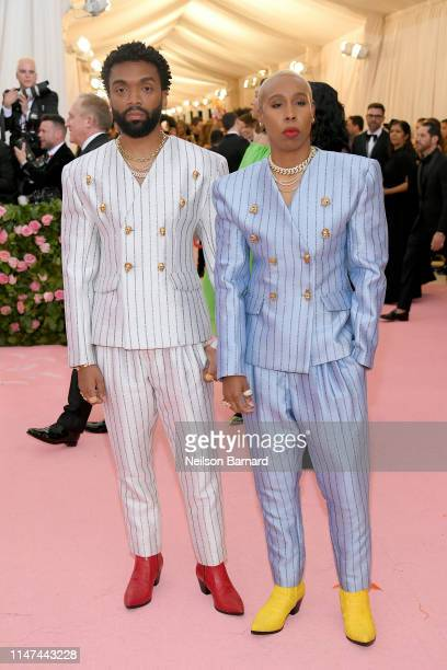 Kerby Jean-Raymond and Lena Waithe attend The 2019 Met Gala Celebrating Camp: Notes on Fashion at Metropolitan Museum of Art on May 06, 2019 in New...