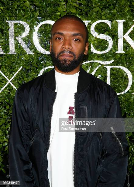 Kerby JeanRaymond attends the 2018 CFDA Fashion Awards' Swarovski Award For Emerging Talent Nominee Cocktail Party at DUMBO House on May 16 2018 in...