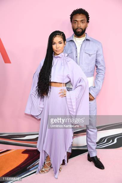Kerby JeanRaymond Jhene Aiko attend the CFDA Fashion Awards at the Brooklyn Museum of Art on June 03 2019 in New York City