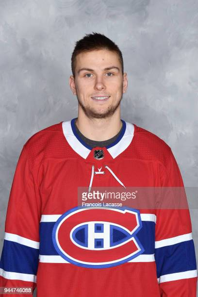 Kerby Rychel of the Montreal Canadiens poses for his official headshot for the 20172018 season prior the NHL against the Dallas Stars at the Bell...
