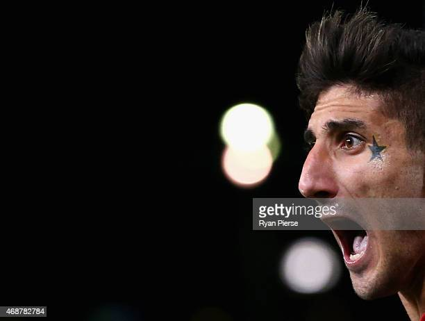 Kerem Bulut of the Wanderers reacts during the Asian Champions League match between the Western Sydney Wanderers and FC Seoul at Pirtek Stadium on...